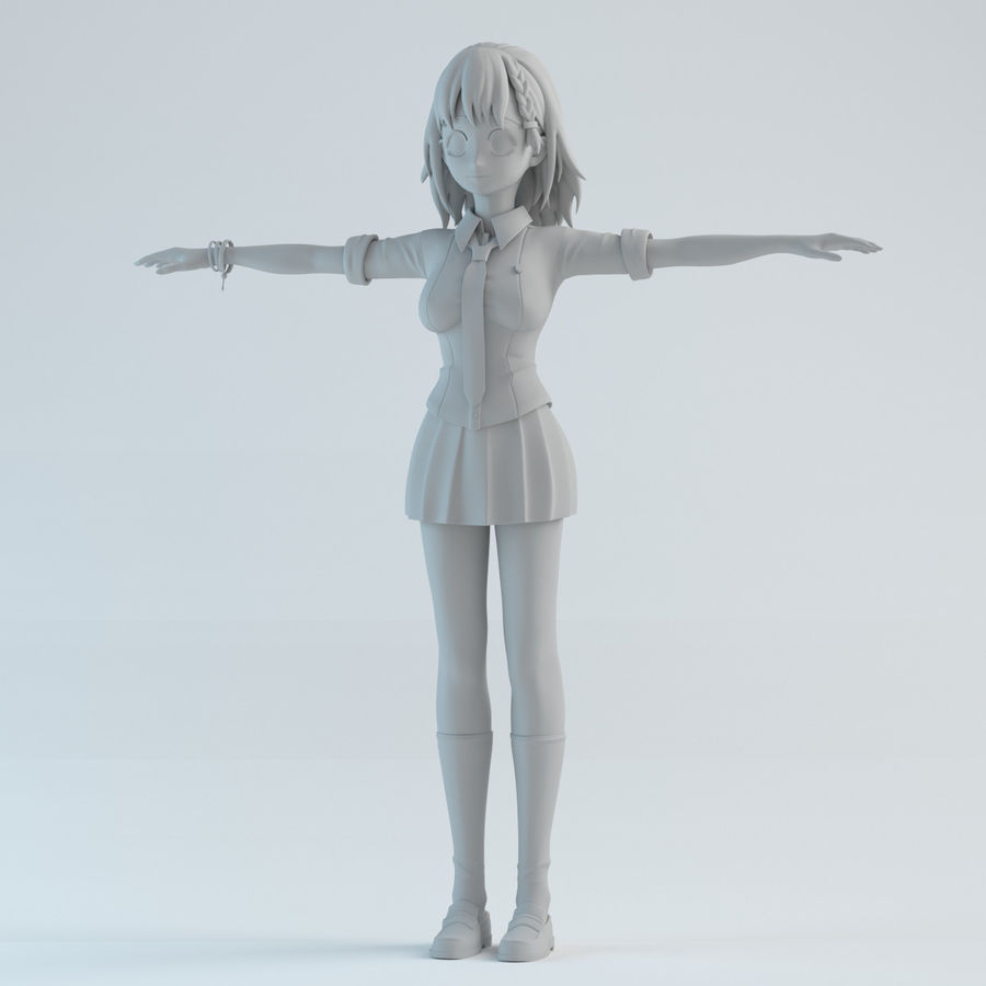 japan meisje model royalty-free 3d model - Preview no. 1