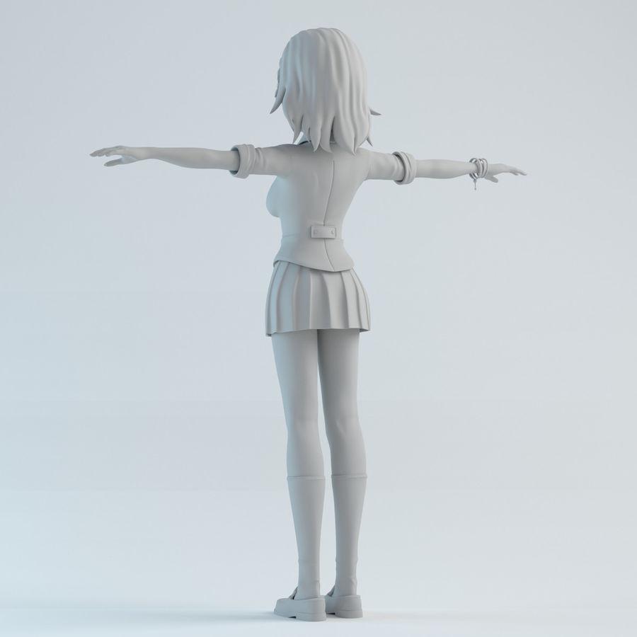 japan girl model royalty-free 3d model - Preview no. 4
