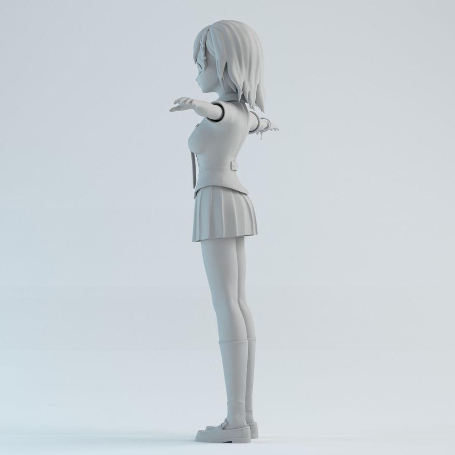 japan girl model royalty-free 3d model - Preview no. 3