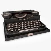 Retro Typewriter 1 3d model