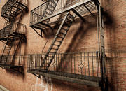 Fire Escape Ladders 3d model