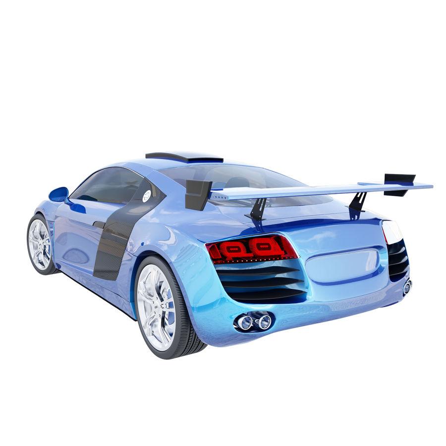 Auto Audi R8 royalty-free 3d model - Preview no. 4