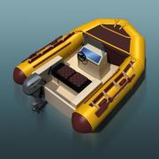 Inflatable motor boat 3d model
