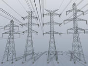 Electric power tower COLLECTION 3d model