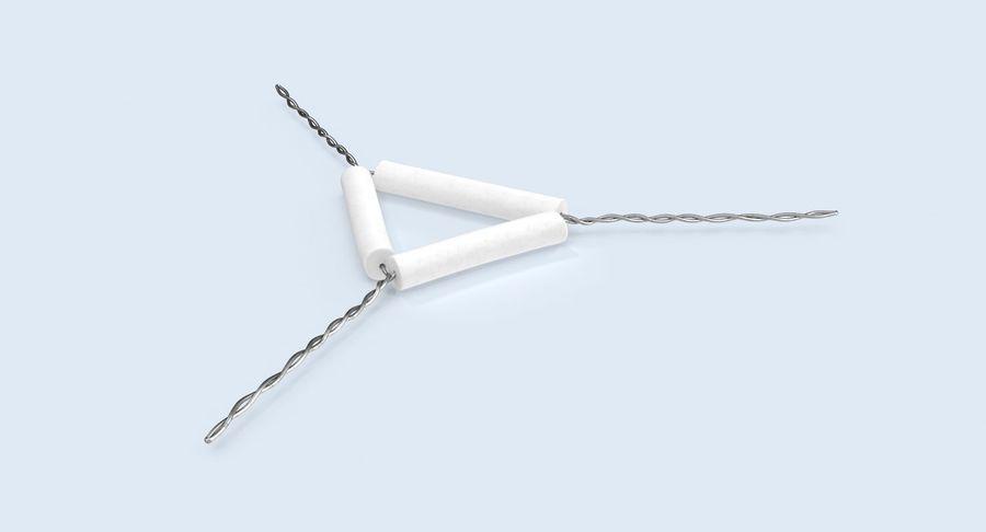 Triángulo de vástago de tubería royalty-free modelo 3d - Preview no. 4