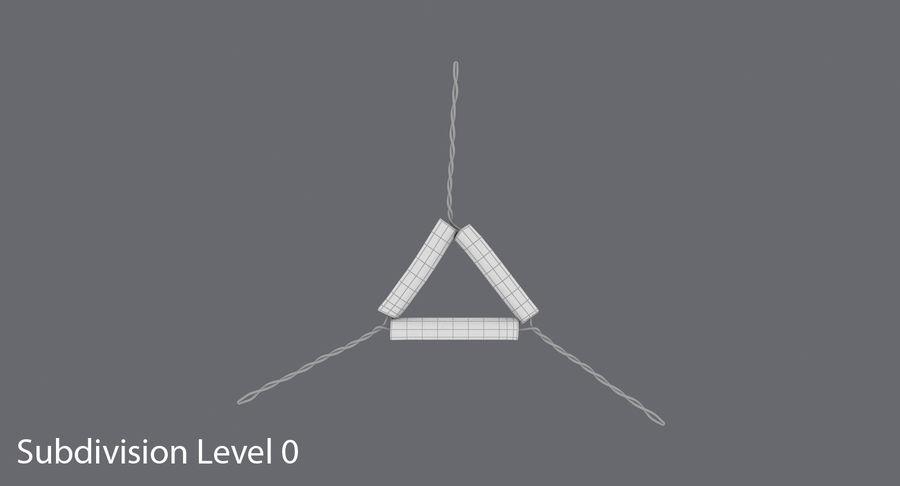 Triángulo de vástago de tubería royalty-free modelo 3d - Preview no. 13