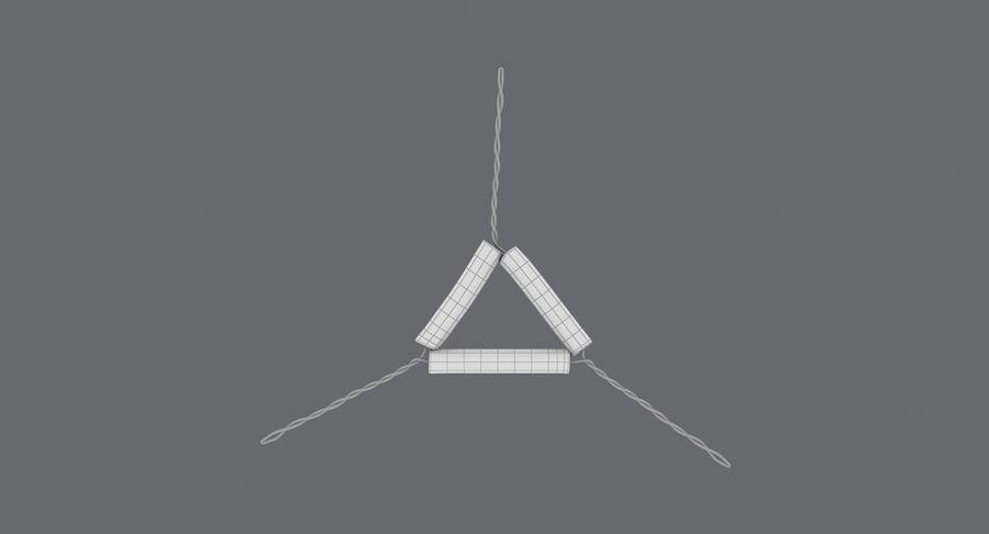 Triángulo de vástago de tubería royalty-free modelo 3d - Preview no. 18