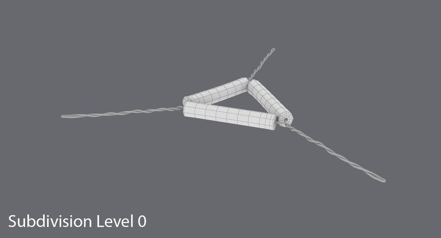 Triángulo de vástago de tubería royalty-free modelo 3d - Preview no. 11