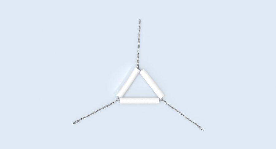 Triángulo de vástago de tubería royalty-free modelo 3d - Preview no. 5