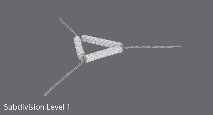Triángulo de vástago de tubería royalty-free modelo 3d - Preview no. 16