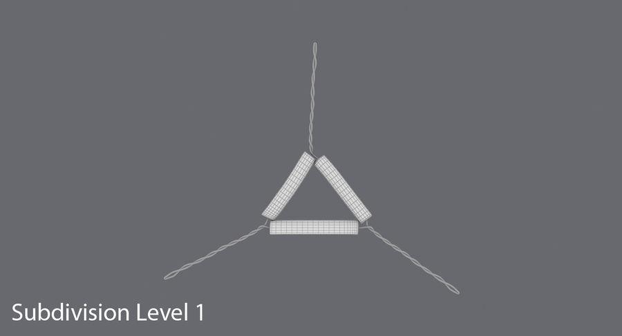 Triángulo de vástago de tubería royalty-free modelo 3d - Preview no. 14