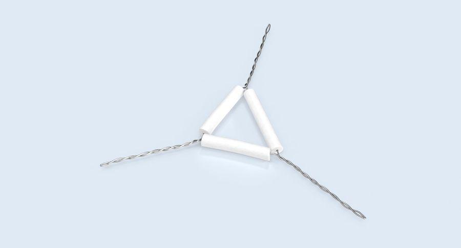 Triángulo de vástago de tubería royalty-free modelo 3d - Preview no. 6