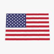 Bandiera degli Stati Uniti 02 3d model