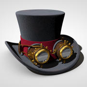 Steampunk-Zylinder 3d model