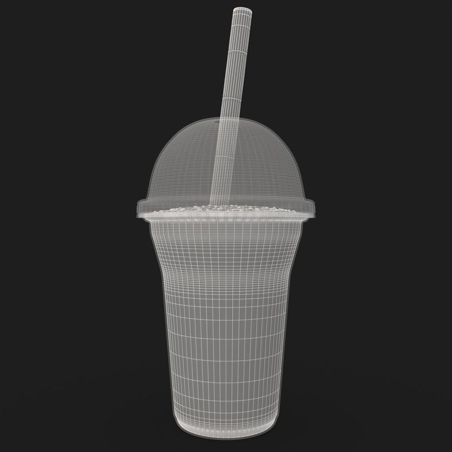 Batido De Frutas Plátano royalty-free modelo 3d - Preview no. 16