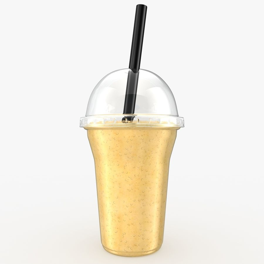 Batido De Frutas Plátano royalty-free modelo 3d - Preview no. 2