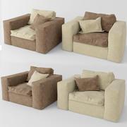 four seats 3d model