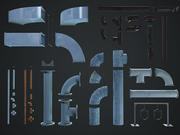 pipe components COLLECTION 3d model