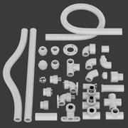 Трубные детали 3d model