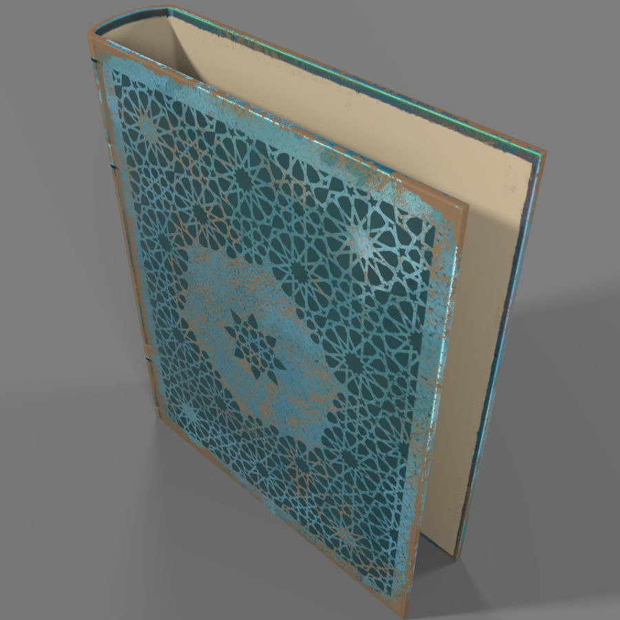 Arabian Book_ Blue royalty-free 3d model - Preview no. 4