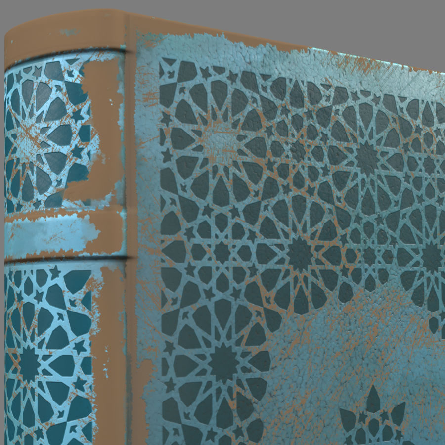 Arabian Book_ Blue royalty-free 3d model - Preview no. 7
