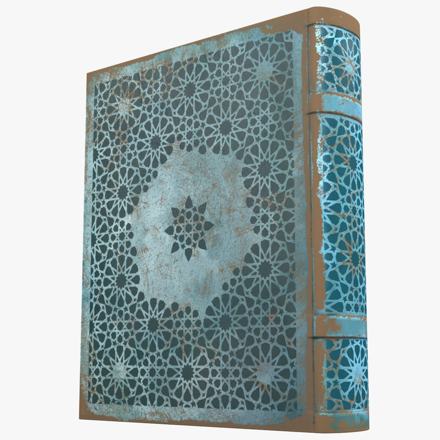 Arabian Book_ Blue royalty-free 3d model - Preview no. 1