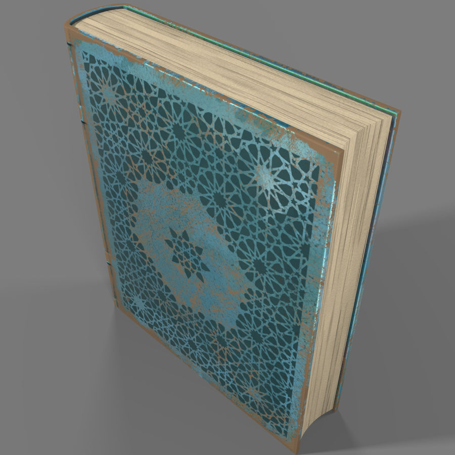 Arabian Book_ Blue royalty-free 3d model - Preview no. 3