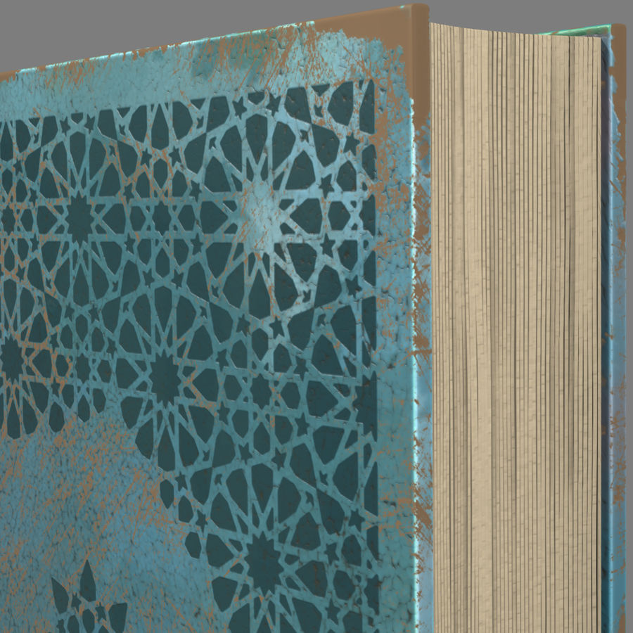 Arabian Book_ Blue royalty-free 3d model - Preview no. 6