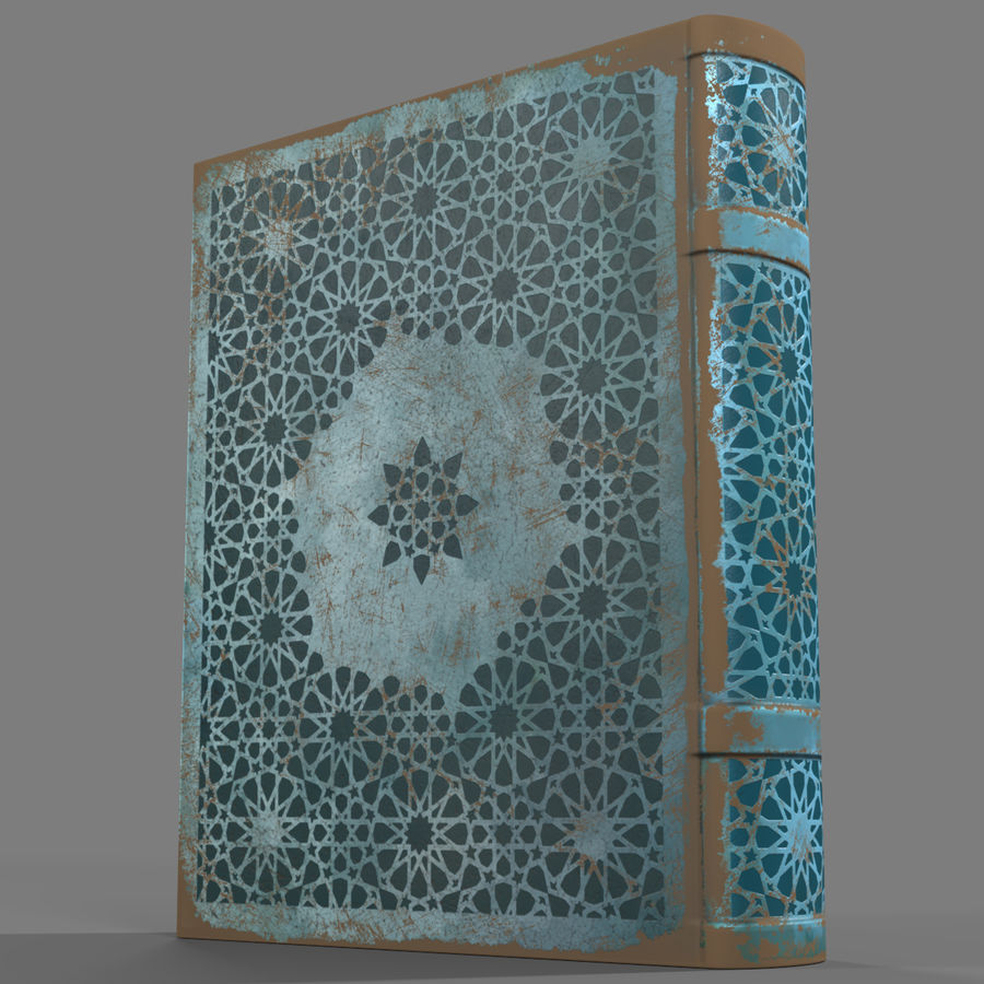 Arabian Book_ Blue royalty-free 3d model - Preview no. 2