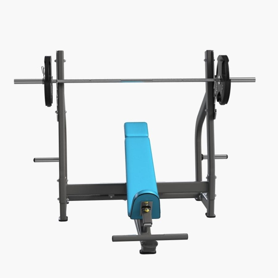 Gym Equipment Front Bench Press royalty-free 3d model - Preview no. 3