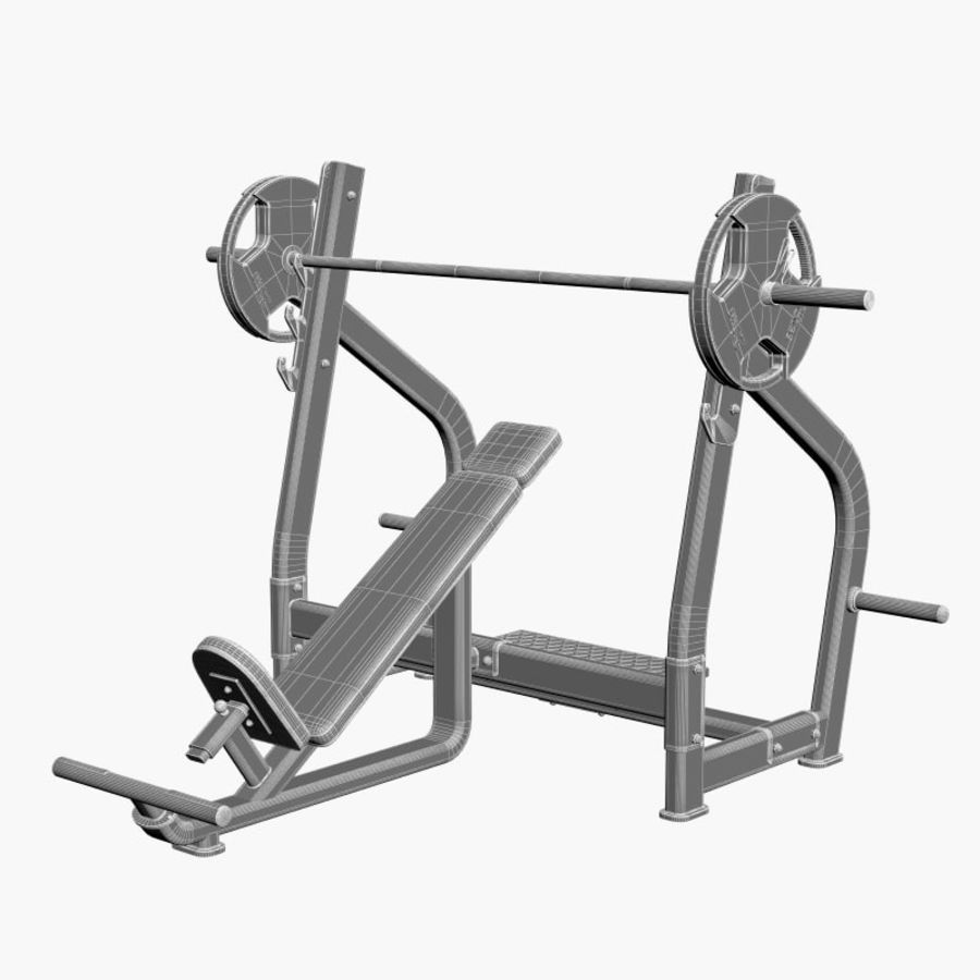 Gym Equipment Front Bench Press royalty-free 3d model - Preview no. 9