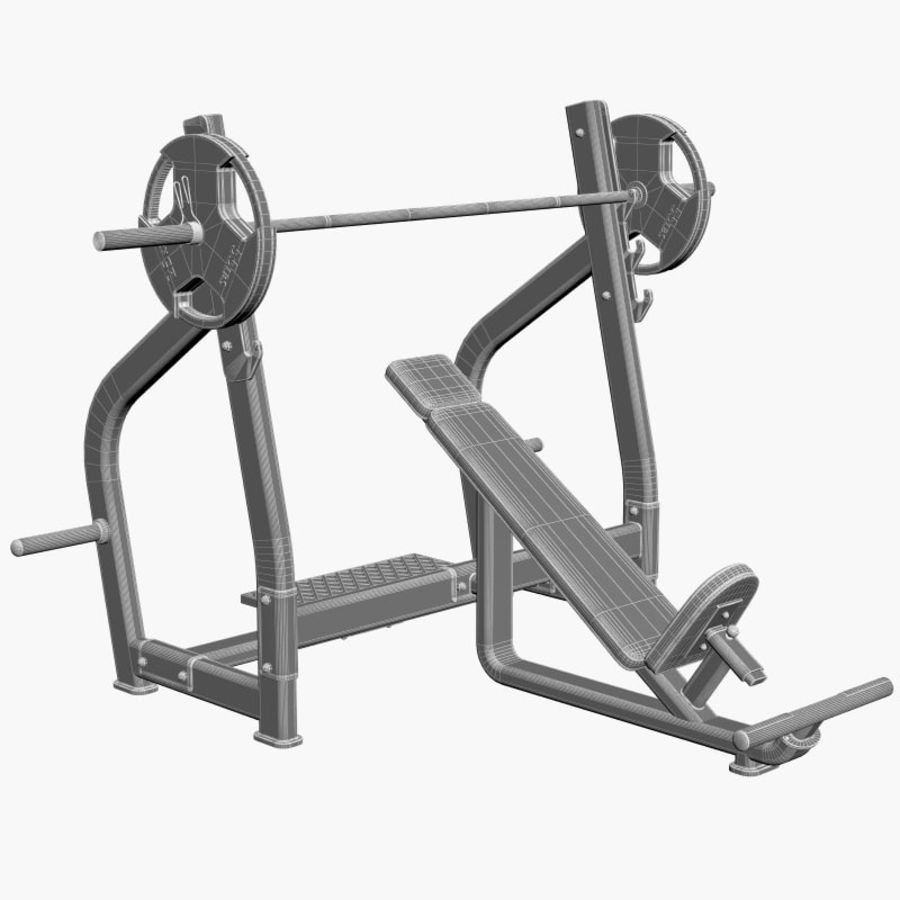 Gym Equipment Front Bench Press royalty-free 3d model - Preview no. 6