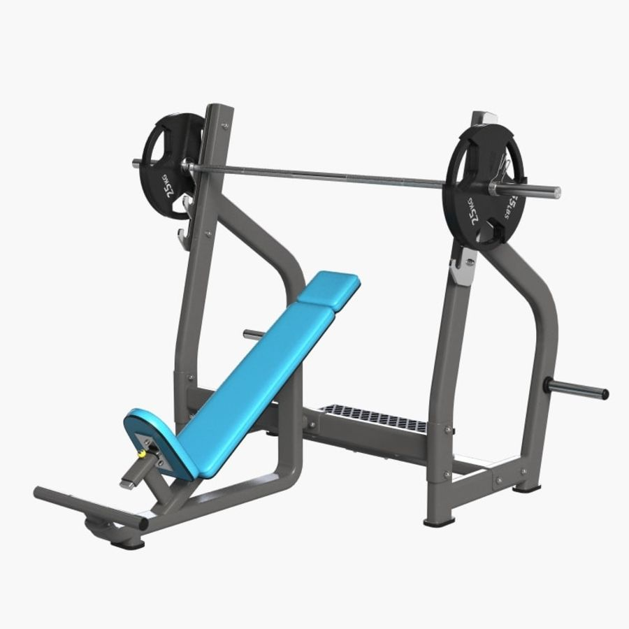 Gym Equipment Front Bench Press royalty-free 3d model - Preview no. 1