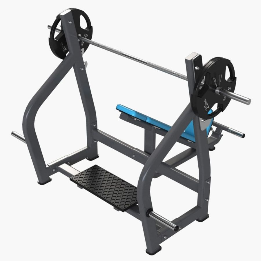 Gym Equipment Front Bench Press royalty-free 3d model - Preview no. 4