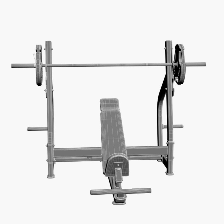 Gym Equipment Front Bench Press royalty-free 3d model - Preview no. 8