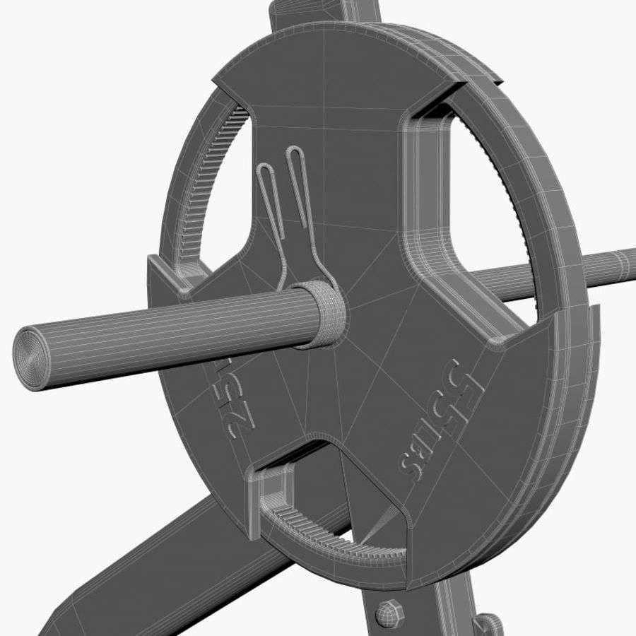 Gym Equipment Front Bench Press royalty-free 3d model - Preview no. 7