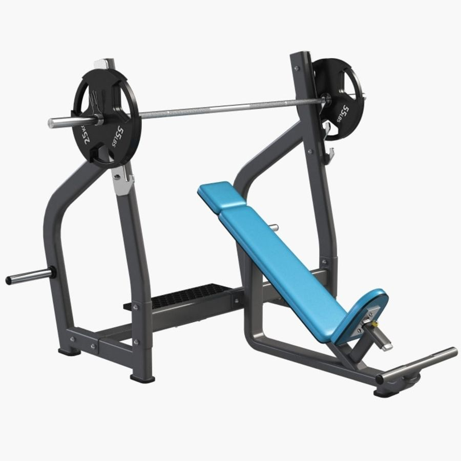 Gym Equipment Front Bench Press royalty-free 3d model - Preview no. 2