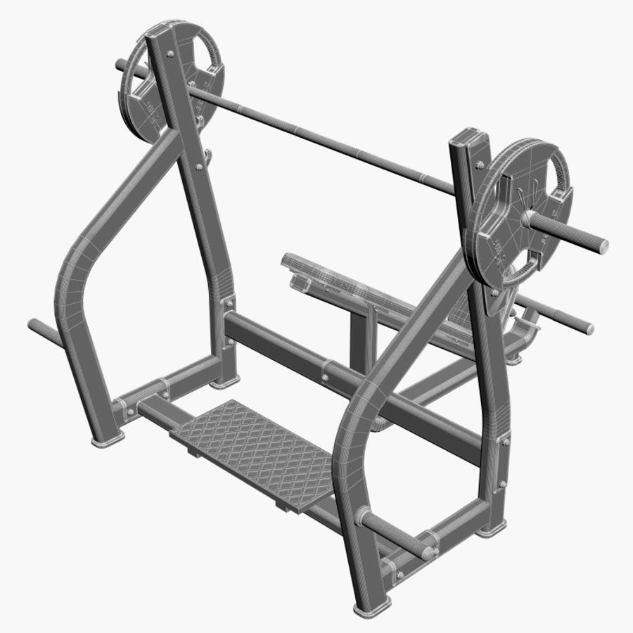 Gym Equipment Front Bench Press royalty-free 3d model - Preview no. 10