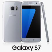 Samsung Galaxy S7 zilver 3d model