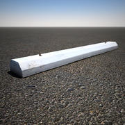 Concrete Parking Stop 3d model