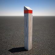 Wood Post 3d model