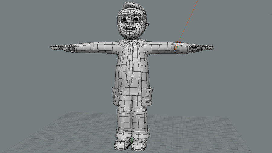Cartoon Doctor royalty-free 3d model - Preview no. 6