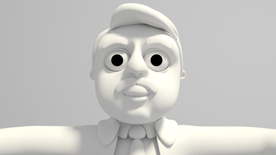 Cartoon Doctor royalty-free 3d model - Preview no. 3