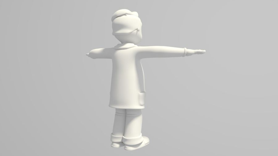 Cartoon Doctor royalty-free 3d model - Preview no. 4