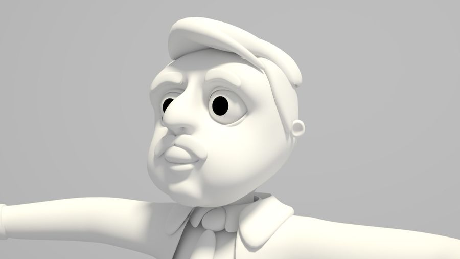 Cartoon Doctor royalty-free 3d model - Preview no. 2