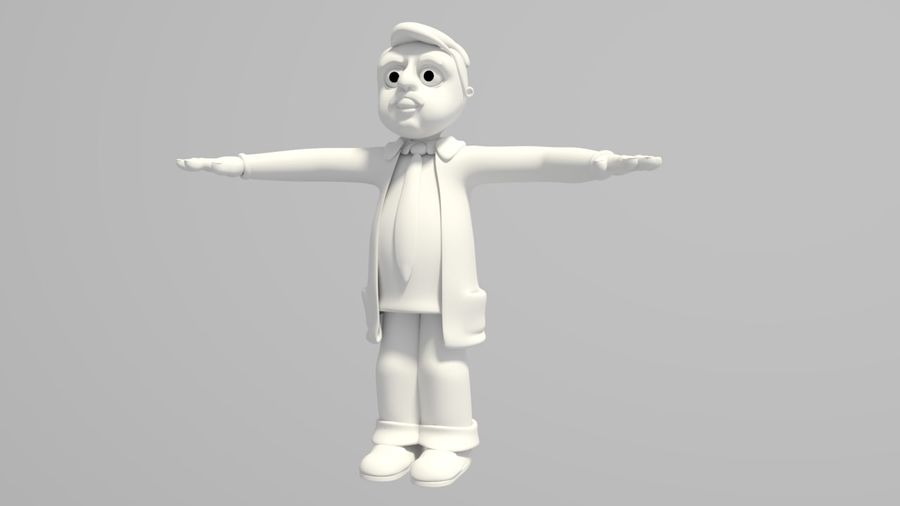 Cartoon Doctor royalty-free 3d model - Preview no. 1