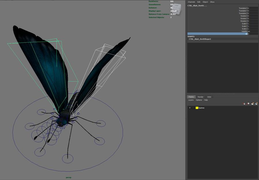 borboleta royalty-free 3d model - Preview no. 22