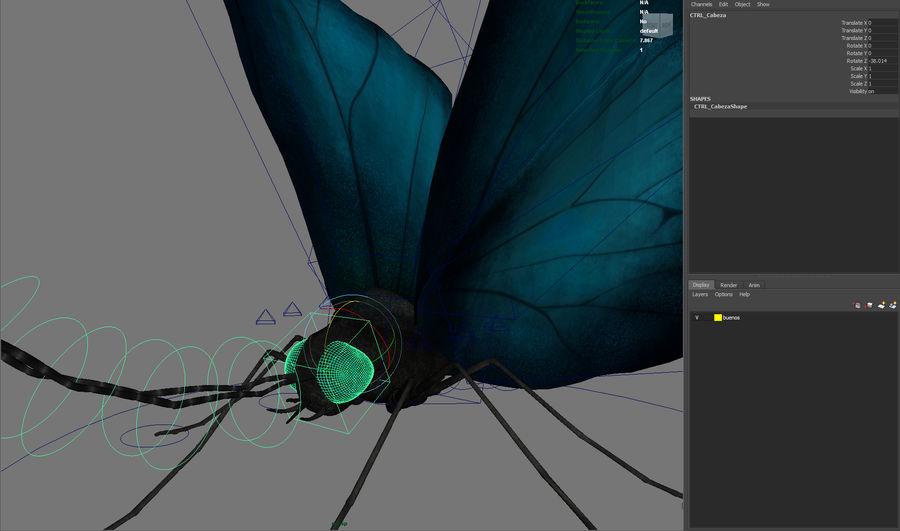 borboleta royalty-free 3d model - Preview no. 19