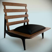 Sergio Rodrigues Rosewood Lounge Chairs 1954 3d model