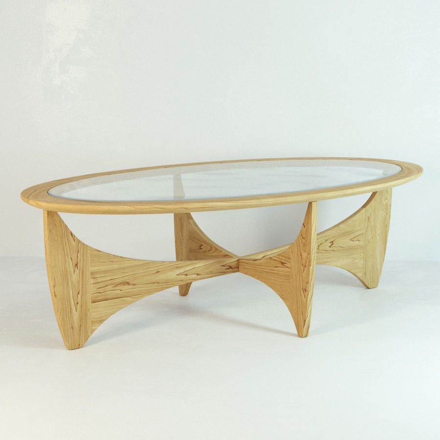 Coffee Table Astro royalty-free 3d model - Preview no. 2